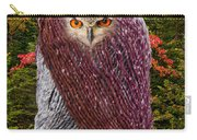 Camouflaged Owl Carry-all Pouch
