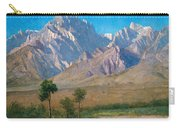 Camp Independence Colorado Carry-all Pouch by Albert Bierstadt