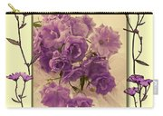 Campanula Framed With Pressed Petals Carry-all Pouch
