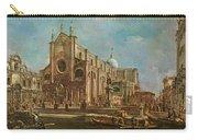 Campo Dei Santi Giovanni E Paolo And The Scuola Grande Di San Marco, Venice Oil On Canvas Carry-all Pouch
