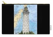 Cana Island Lighthouse Wi Nautical Chart Map Art Carry-all Pouch