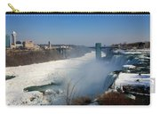 Canada And America At Niagara Falls Carry-all Pouch