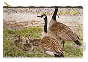 Canada Geese And Goslings Carry-all Pouch