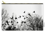Canada Geese Flight Silhouette Carry-all Pouch