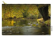 Canada Geese In Autumn Swimming On The Thornapple River Carry-all Pouch