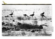Canada Geese In Black And White Carry-all Pouch