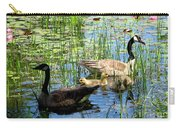 Canada Geese On Lily Pond At Reinstein Woods Carry-all Pouch
