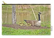 Canada Goose And Goslings Carry-all Pouch