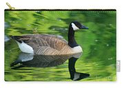 Canada Goose On Green Pond Carry-all Pouch