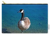 Canada Goose On One Leg Carry-all Pouch by Susan Wiedmann