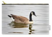 Canada Goose Reflecting In Calm Waters Carry-all Pouch
