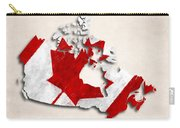 Canada Map Art With Flag Design Carry-all Pouch