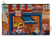 Canadian  Artists Paint Hockey And Montreal Streetscenes Over 500 Prints Available  Carry-all Pouch