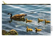 Canadian Goose And Goslings Carry-all Pouch