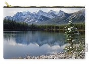1m3541-canadian Peak Reflected In Herbert Lake Carry-all Pouch