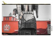 Canadian Totem And Railway Carry-all Pouch
