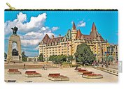 Canadian War Memorial And Chateau Laurier In Ottawa-ontario  Carry-all Pouch