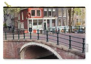 Canal Bridge And Houses In Amsterdam Carry-all Pouch