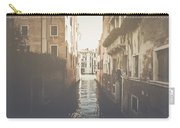 Canal In Venice Italy Applying Retro Instagram Style Filter Carry-all Pouch