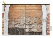 Canalside Weathered Door Venice Italy Carry-all Pouch