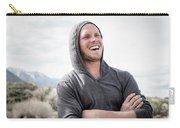 Candid Portrait Of Laughing Young Carry-all Pouch
