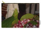 Candle And Grapes Carry-all Pouch by Marcia Socolik