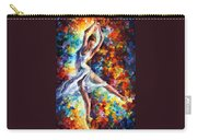 Candle Fire - Palette Knife Oil Painting On Canvas By Leonid Afremov Carry-all Pouch