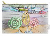 Candy Bike Rack In Colored Pencil Carry-all Pouch