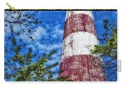Candy Cane Lighthouse Carry-all Pouch