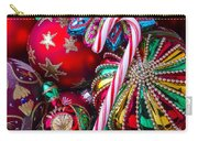 Candy Canes And Colorful Ornaments Carry-all Pouch