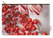 Candy Canes And Red Berries Carry-all Pouch