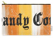 Candy Corn Sign Carry-all Pouch by Linda Woods