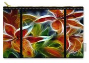 Candy Lily Fractal Triptych Carry-all Pouch