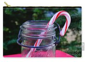 Candycane In Ball Jar Carry-all Pouch