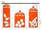 Canisters In Orange Carry-all Pouch