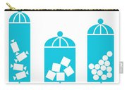 Canisters In Turquoise Carry-all Pouch