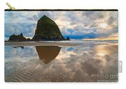 Cannon Beach With Storm Clouds In Oregon Coast Carry-all Pouch