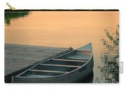 Canoe At A Dock At Sunset Carry-all Pouch by Jill Battaglia