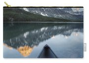 Canoe At Lower Waterfowl Lake With Carry-all Pouch