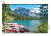 Canoe Livery On Emerald Lake In Yoho Np-bc Carry-all Pouch