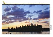 Canoeing At Sunset Carry-all Pouch by Elena Elisseeva