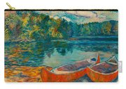 Canoes At Mountain Lake Carry-all Pouch