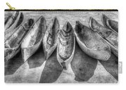 Canoes In Black And White Carry-all Pouch