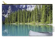 Canoes In Moraine Lake And Valley Of Carry-all Pouch