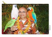 Can't Get Brighter Than This  Artist Navinjoshi In Hawaii Travel Vacations With Trained Parrots By P Carry-all Pouch