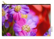 Canvas Flowers Carry-all Pouch