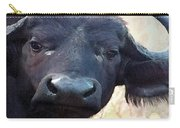 Cape Buffalo Up Close And Personal Carry-all Pouch