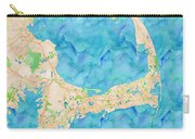 Cape Cod Watercolor Map Carry-all Pouch