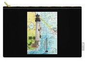 Cape Florida Lighthouse Nautical Chart Map Art Carry-all Pouch