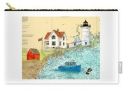 Cape Neddick Lighthouse Me Nautical Chart Map Art Cathy Peek Carry-all Pouch